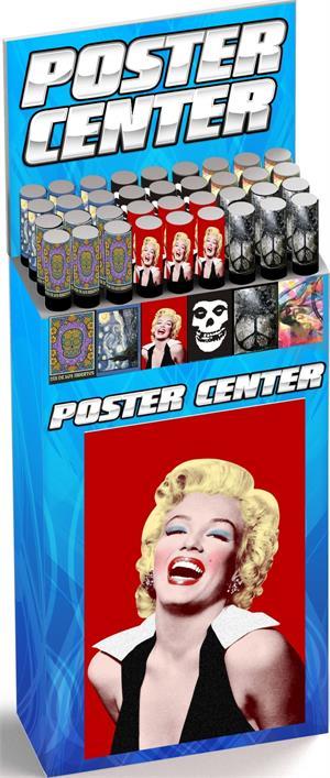 POSTER CENTER - 6 Styles/6 Bin