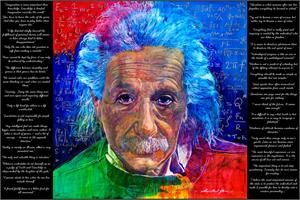 """AS QUOTED BY EINSTEIN POSTER BY: DAVID LLOYD GLOVER - 24"""" X 36"""""""