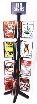 Tin Sign Display - 256 Pieces - 8 Each Sign