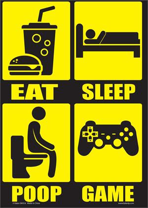 "Eat Sleep Poop Repeat Tin Sign - 8 1/2"" X 11.75"""
