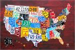 License Plate Map of the US Poster - 24