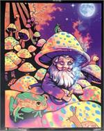 Image of Mushroom Man Mini Non-Flocked Black Light Poster