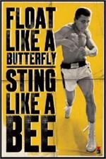 Muhammad Ali - Float Like a Butterfly Sting Like A Bee Poster - 24