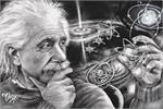 Albert Einstein Quazar by: James Danger Harvey Poster - 24