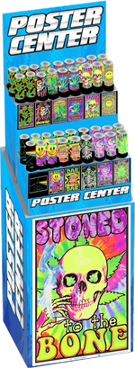 420 Themed Blacklight Posters Pre-Pack Display Image