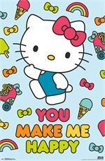 Hello Kitty - Happy Poster - 22.375
