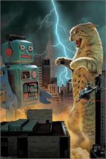 Cat vs Robot Poster - 24