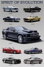 Mustang Evolution Poster - 24