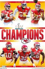 NFL Commemorative Super Bowl LIV - KC Chiefs Poster - 22.375