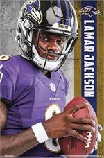NFL Baltimore Ravens - Lamar Jackson Poster - 22.375