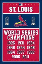 MLB St. Louis Cardinals - Champions Poster - 22.375
