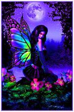 Fairy Garden - Non-Flocked Blacklight Poster Image