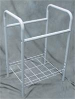 POSTER BROWSER RACK FOR SHRINK WRAP POSTERS - BLACK/WHITE - HOLDS 48 SHRINK WRAPPED POSTERS