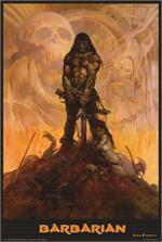 BARBARIAN - By: FRANK FRAZETTA - POSTER - 24