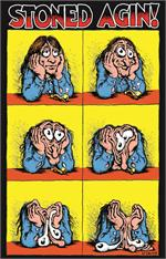Stoned Agin! by: R. Crumb Poster - 24
