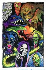 Nightmare Creatures Black Light Poster - 23