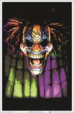 Evil Clown Face Black Light Poster - 23