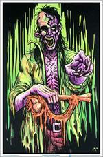 Zombie Stalker Black Light Poster - 23