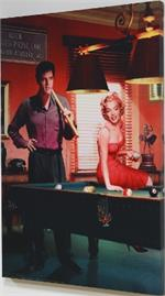 Legal Action - Elvis Presley & Marilyn Monroe Canvas Print