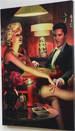 Four of a Kind - Elvis Presley & Marilyn Monroe Canvas Print