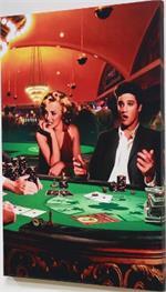 Royal Flush - Elvis Presley & Marilyn Monroe Canvas Print