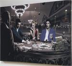 Royal Flush - Elvis Presley, James Dean & Marilyn Monroe B&W Canvas Print