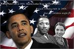 MARTIN LUTHER KING, ROSA PARKS & OBAMA POSTER - 36