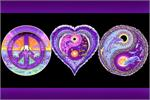 Peace, Love & Happiness - Non Flocked Blacklight Poster Image