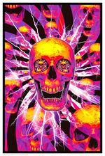 Hyper Skull - Non Flocked Blacklight Poster - 24