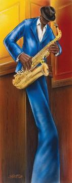 Jazz 1 Sax Slim Print by: Magrini - 12