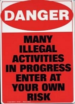 Danger Tin Sign - 8 1/2