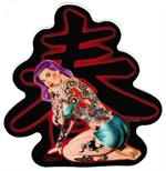 TATTOO GIRL STICKER