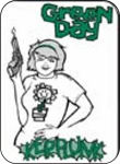 GREEN DAY - KERPLUNK  - MINI STICKER - 2