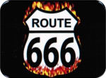 ROUTE 666 - MINI STICKER - 2