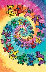 Grateful Dead Spiral Bears Giant Poster - 40