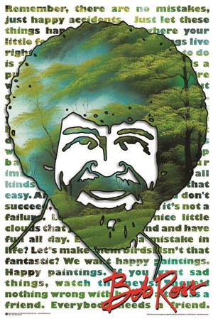 "Bob Ross Quotes Poster - 24"" x 36"""