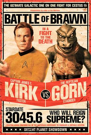 Image of Star Trek - Kirk vs Gorn TV Poster