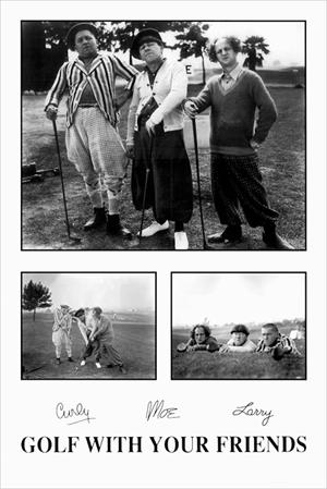 Image of Three Stooges Golf Poster