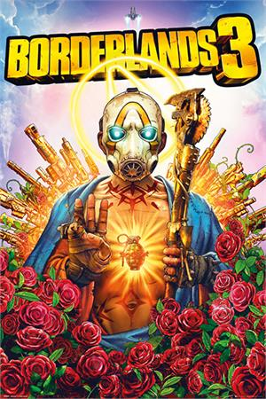 "Borderlands 3 Game Cover Poster - 24"" X 36"""
