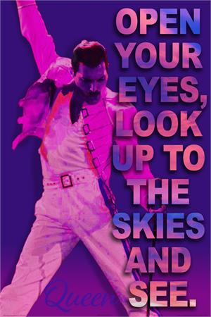 "Queen ""Open Your Eyes"" Poster - 24"" X 36"""