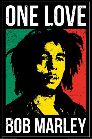 "Bob Marley One Love Poster - 24"" X 36"""