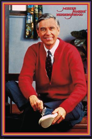 "Mister Rogers  Tying Shoes Poster - 24"" x 36"""