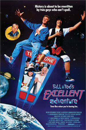 "Bill & Ted's Excellent Adventure Poster - 24"" x 36"""