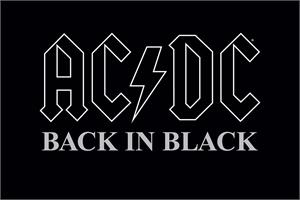 "AC/DC Back in Black Poster - 24"" x 36"""