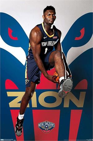 "NBA New Orleans Pelicans - Zion Williamson Poster - 22.375"" x 34"""