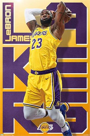 "NBA Los Angeles Lakers - Lebron James Poster - 22.375"" x 34"""