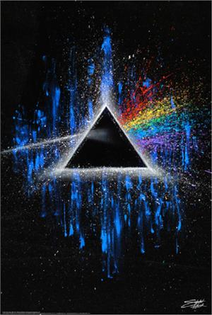 "PINK FLOYD - DARK SIDE OF THE MOON by: Stephen Fishwick - POSTER - 24"" X 36"""