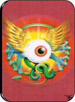 "FLYING EYE - LARGE STICKER - 2 1/2"" X 3 3/4"""