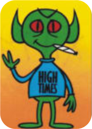 High Times Alien - Large Sticker Image