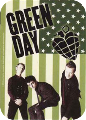 Green Day Flag Large Sticker Image